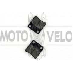 Колодки тормозные (диск) Honda DIO, TACT (красные) MANLE