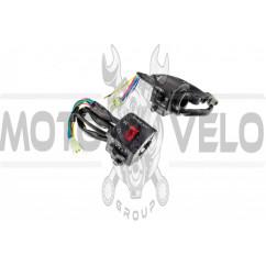 Блоки кнопок руля (пара)    CB/CG 125-150 (черные)   KOMATCU   (mod.A)