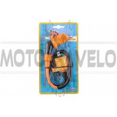 Катушка зажигания (тюнинг) 4T GY6 50-150, Honda DIO (оранжевая) FIRE FLAME