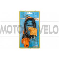 Катушка зажигания (тюнинг) 4T GY6 50-150, Honda DIO (оранжевая, +насвечник)