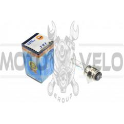 Лампа P15D-25-3 (3 уса)   12V 35W/35W   (хамелеон радужный)   YWL
