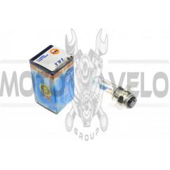 Лампа P15D-25-3 (3 уса)   12V 50W/50W   (хамелеон розовый)   YWL, шт