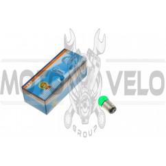 Лампа S25 (двухконтактная)   12V 10W/5W   (стоп, габарит)   (зеленая)   YWL, шт