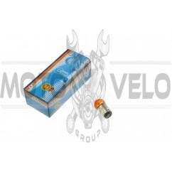 Лампа S25 (двухконтактная)   12V 10W/5W   (стоп, габарит)   (красная)   YWL, шт
