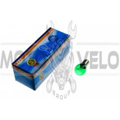 Лампа S25 (двухконтактная)   12V 21W/5W   (стоп, габарит)   (зеленая)   YWL, шт