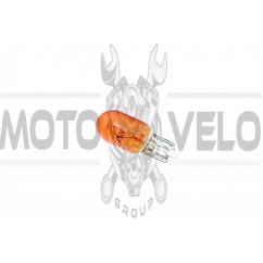 Лампа Т10 (безцокольная)   12V 3W   (габарит, приборы)   (желтая)   YWL, шт
