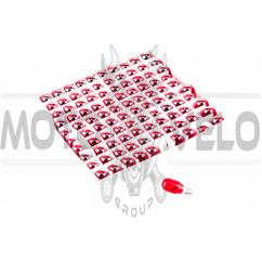 Лампа Т15 (безцокольная) 12V 10W (поворот, красная) YWL