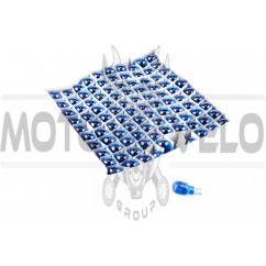Лампа Т15 (безцокольная) 12V 10W (поворот, синяя) YWL