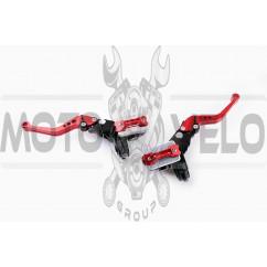 Машинки тормозные (ГТЦ) универсальные (комплект, радиальные, тюнинг) (mod:1, красные) RIDE IT