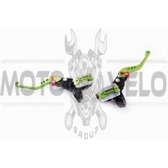 Машинки тормозные (ГТЦ) универсальные (комплект, радиальные, тюнинг) (mod:1, зеленые) RIDE IT