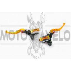 Машинки тормозные (ГТЦ) универсальные (комплект, радиальные, тюнинг) (mod:1, желтые) RIDE IT