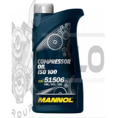 Масло   1л   (компрессионное, Compressor Oil ISO 100)   MANNOL, шт