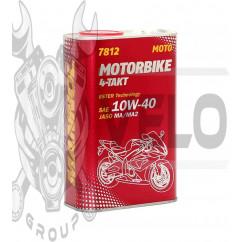 Масло   4T, 1л   ж/б   (SAE 10W-40, 7812 Motorbike 4-Takt API SL)   MANNOL, шт