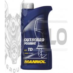 Масло   2T, 1л   (для лодок, гидроциклов, двигателей с водяным охлаждением, Outboard Marine API TD)   MANNOL, шт