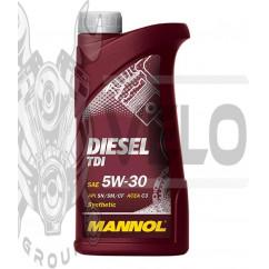 Масло   4T, 1л   (SAE 5W-30, Diesel TDI 5W-30 API SN/SM/CF)   MANNOL, шт