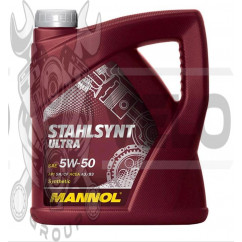 Масло   4T, 4л   (SAE 5W-50, синтетика, Stahlsynt Ultra 5W-50 API SN/CF)   MANNOL, шт
