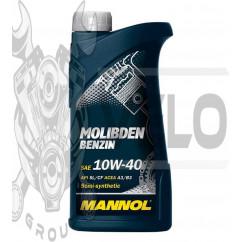 Масло   4T, 1л   (SAE 10W-40, полусинтетика, Molibden Benzin API SL/CF)   MANNOL, шт