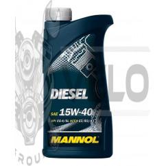 Масло   4T, 1л   (SAE 15W-40, минеральное, Diesel API CG-4/CF-4/CF/SL)   MANNOL, шт