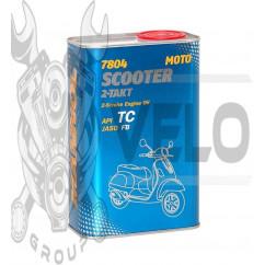 Масло   2T, 1л   (полусинтетика, 7804 Scooter 2-Takt API TC)   MANNOL, шт