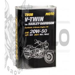 Масло   4T, 1л   (SAE 20W-50, синтетика, 7808, V-Twin for Harley-Davidson API SM)   MANNOL
