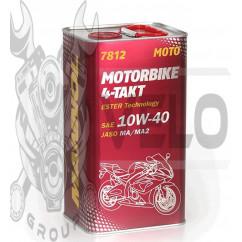 Масло   4T, 4л   ж/б   (SAE 10W-40, 7812 Motorbike 4-Takt API SL)   MANNOL