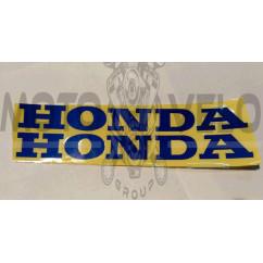 Наклейка   логотип   (mod:Honda  19x5см, синяя)   (#0040)