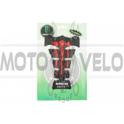Наклейка на бак MONSTER ENERGY (силикон, красная) (#0051)