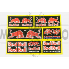 Наклейки (набор) логотип RED BULL (22х15см) (#5880)