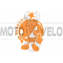 Наклейка декор DANGER (16х12см, оранжевая) (#0739)