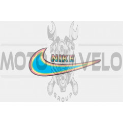 Наклейка логотип NIKE (13х8см) (#3290)