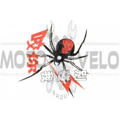 Наклейка декор SPIDER (12x11см) (#2657)