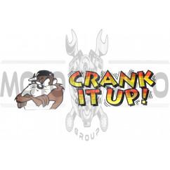 Наклейка декор CRANK IT UP! (28x8см) (#3529)