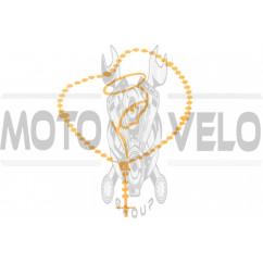 Наклейка декор CHAIN (16x14см, оранжевая) (#5622)