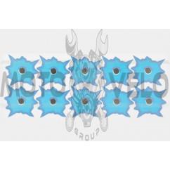 Наклейки (набор) обманка (26х10, синие) (#4284)