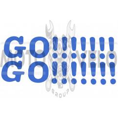 Наклейка декор GO!!!!!!! (41х9, синяя) (#0498)