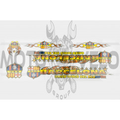 Наклейки (набор) спонсор BARCELONA (34х13см) (#5965)