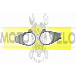 Наклейка декор на траверсу CARBON (10х7см) (5280)