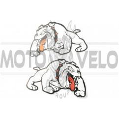 Наклейки (набор) DOG (24х15см, белые) (#3401)