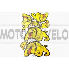 Наклейки (набор) DOG (28х19см, желтые) (#0062C)