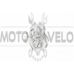 Наклейка декор SPIDER (9х9см) (#6883)