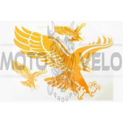 Наклейки (набор) EAGLE (35х27см, желтый) (#0881)
