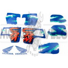 Наклейки (набор) Honda CRM (35х23см, синие) (#2424)