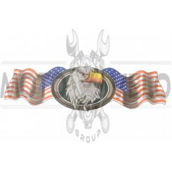 Наклейка декор USA (42х13см) (#3198)
