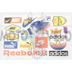 Наклейки (набор) спонсоры, мультибренд (29х19см) (#0013)