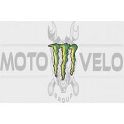 Наклейка логотип MONSTER ENERGY (10х8см) (#7312B)