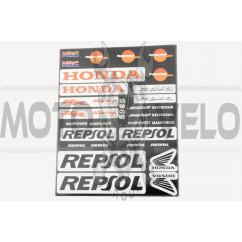 Наклейки (набор) спонсор REPSOL (22х18см) (#5985)