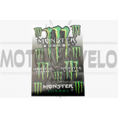 Наклейки (набор) спонсор MONSTER ENERGY (34х23см) (#7055)