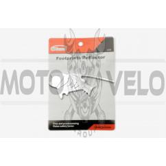 Наклейка шильдик FISH (хром) (#4257)