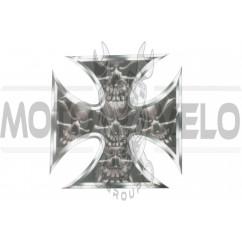 Наклейка декор CROSS (10х10см) (#3408)