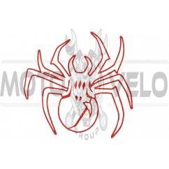 Наклейка декор SPIDER (13х13см) (#6883)